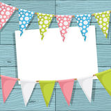 Bunting decoration Stock Images