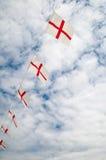 bunting engelsk flagga Arkivfoto