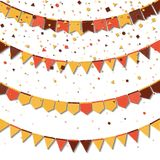 Bunting fair flags. stock illustration