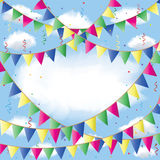 Bunting flag Stock Image