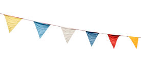 Bunting flags. Colorful festive bunting flags (isolated on white background Stock Photography