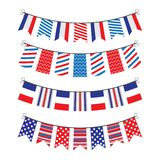 Bunting of flags Stock Photos