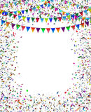 Bunting Flags Confetti Frame Royalty Free Stock Image