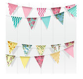 Bunting flags decoration on  background Royalty Free Stock Photos