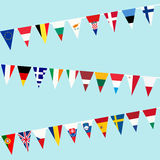 Bunting of flags from European Union Stock Images