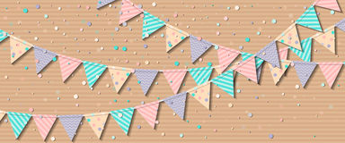 Bunting flags. Royalty Free Stock Photography