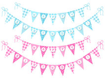 Bunting flags Happy Birthday Royalty Free Stock Photo