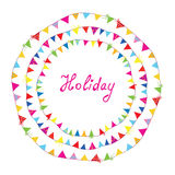 Bunting flags holiday frame for children Stock Photos