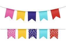 Bunting Flags Isolated Royalty Free Stock Photos