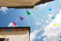 Bunting Flags in Ligosullo Stock Photos