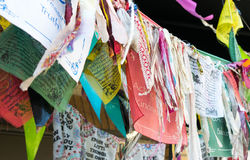 Bunting, flags, ribbons stock photography
