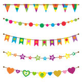 Bunting flags set stock illustration