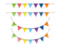Bunting flags Vector set Royalty Free Stock Image