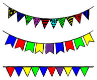 Bunting and garland Royalty Free Stock Images
