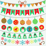 Bunting and garland decoration Stock Photography