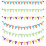 Bunting garland dotted flags vector. Stock Photography