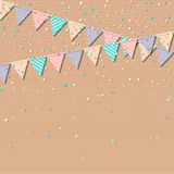 Bunting garland. Stock Images
