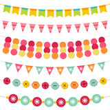Bunting and garland set Stock Photography
