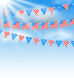 Bunting Garlands Stock Photos