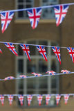 Bunting. Hung for the Queen`s Jubilee, Hay`s Galleria, London, England, UK Stock Photos