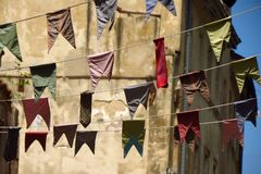 Bunting, kleurrijke partijvlaggen Royalty-vrije Stock Afbeeldingen