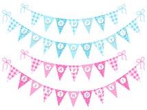 Bunting lycklig födelsedag för flaggor Royaltyfri Foto