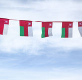 Bunting of an Oman flag Royalty Free Stock Photo