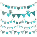 Bunting Owl Banner Stock Photo