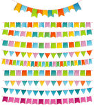 Bunting party color flags Stock Images