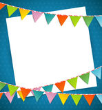 Bunting party color flags Royalty Free Stock Photo