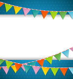 Bunting party color flags Royalty Free Stock Images
