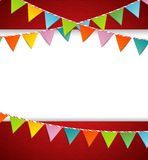 Bunting party color flags Stock Photo