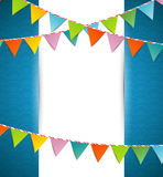 Bunting party color flags Royalty Free Stock Photos
