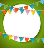 Bunting party color flags Stock Image