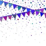 Bunting party flags. Royalty Free Stock Photo