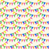 Colorful bunting party flags seamless pattern . Bunting party flags seamless pattern Royalty Free Stock Photo