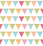 Bunting Seampless Pattern Royalty Free Stock Images