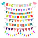 Bunting set Royalty Free Stock Photos