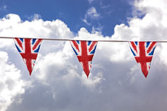 Bunting and sky Royalty Free Stock Photography