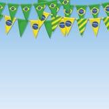 Bunting van Brazilië decoratie Royalty-vrije Stock Foto