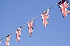 Bunting van de Vlag van de Unie, Engeland Stock Afbeelding