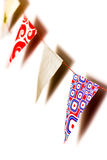 Bunting van driehoeken vlaggen   Stock Fotografie