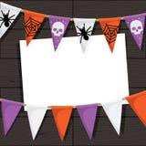 Bunting van Halloween decoratie Royalty-vrije Stock Afbeeldingen
