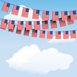 Bunting van sterren en van Strepen vlaggen Royalty-vrije Stock Foto's