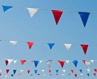 Bunting vlaggen Royalty-vrije Stock Foto