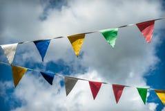 Bunting vlaggen Royalty-vrije Stock Foto's