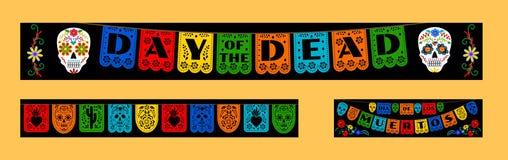 Bunting voor Dag van de Doden stock illustratie