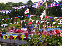 Bunting. At a waterways festival Stock Image