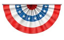 Buntingamerikanska flaggan Royaltyfri Foto