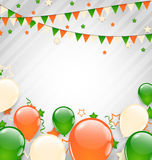 Buntings Flags Garlands and Balloons Royalty Free Stock Images